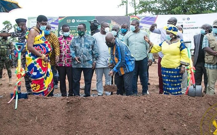 President Akufo-Addo Cuts Sod €15 Million Integrated Recycle And Compost Plant