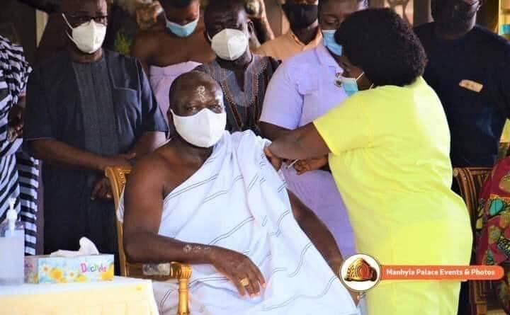 Asantehene Otumfuo Osei Tutu II Takes Covid-19 Vaccine