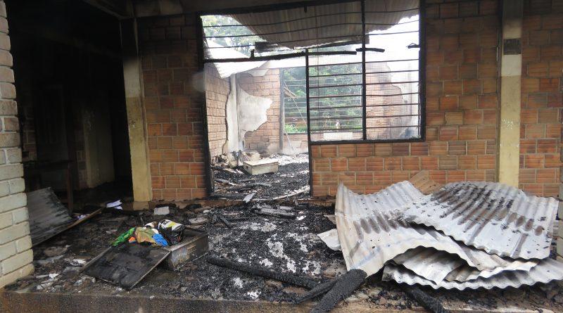 Fire Destroys Don Bosco Vocational Technical Hostel